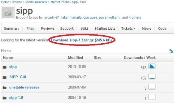 SIPp_download